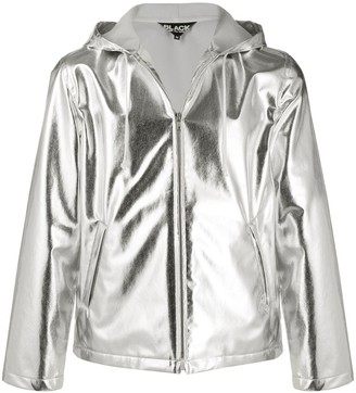 Black Comme Des Garçons Metallic Short Hooded Jacket