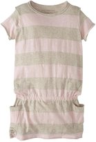 Burt's Bees Baby Rugby Pocket Dress (Toddler/Kid) - Petal Pink-3T