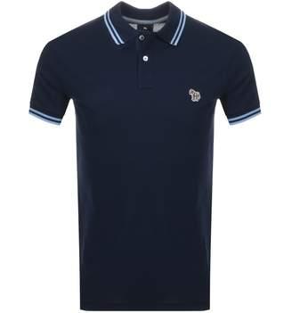 Paul Smith Slim Fit Zebra Polo T Shirt Navy