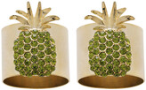 Joanna Buchanan Pineapple Napkin Ring - Set of 2 - Green