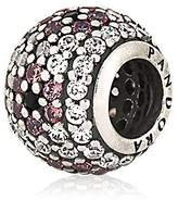 Pandora Shimmering Blossom Charm in Sterling Silver w/Muti-Colored CZ, 791129CZ