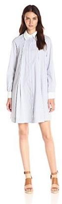 Nanette Lepore Nanette Women's Contrast Collar Trapeze Shirt Dress