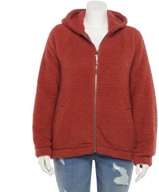 So Juniors' Plus Size Full Zip Sherpa Jacket