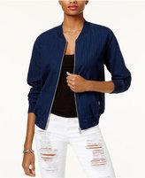 GUESS Striped Cotton Bomber Jacket