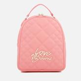 Love Moschino Women's Matt Quilted Backpack - Pink