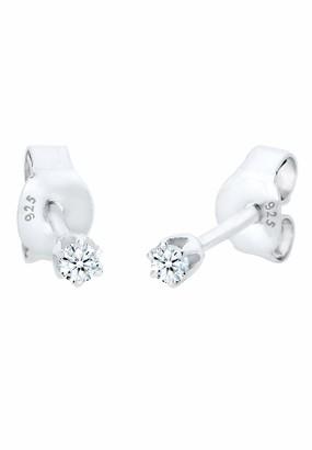 Diamore Women's 925 Sterling Silver Xilion Cut Diamond Earrings