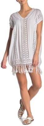 BOHO ME Crochet Fringe Short Dress
