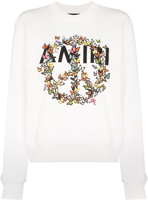 Amiri Butterfly Logo Print Sweatshirt