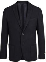 Fendi Navy Wool Blend Blazer