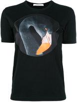 Givenchy flamingo print T-shirt - women - Cotton/Polyester - L