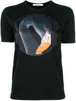 Givenchy flamingo print T-shirt - women - Cotton/Polyester - XS