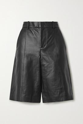 Vince Leather Shorts - Black