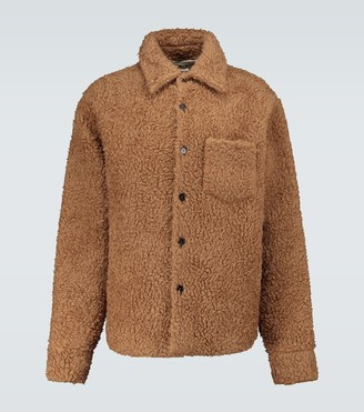 Marni Wool and mohair-blend teddy jacket