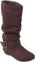 Journee Collection Brown Shelley Wide-Calf Boot