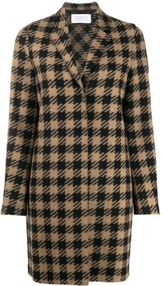 Harris Wharf London Single-Breasted Check Coat