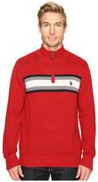 U.S. Polo Assn. 1/4 Zip Cotton Chest Stripe