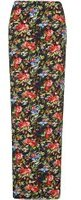 Dorothy Perkins Womens **Tall Black Floral Maxi Skirt- Fl Multi