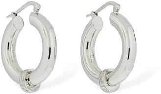 Versace Greek Motif Small Hoop Earrings