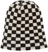 The Elder Statesman Women's Big Checks Cashmere Cap