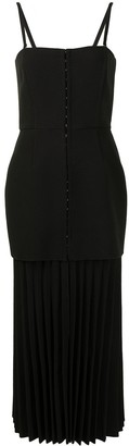 Dion Lee Hook & Eye Pleated Crepe Dress