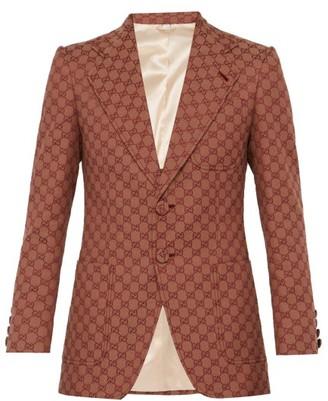Gucci GG Single-breasted Cotton-blend Blazer - Multi