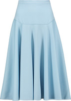 Vionnet Pleated wool and angora-blend skirt