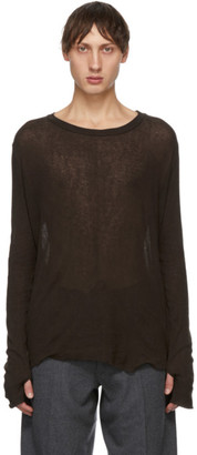 Tanaka Brown Cashmere Airy T-Shirt