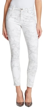 Christina Skinnygirl Marie Marble Printed Skinny Jeans