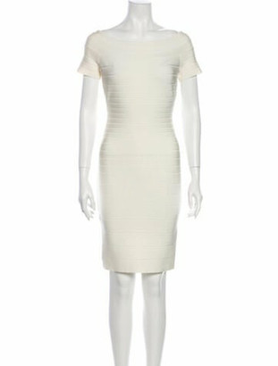 Herve Leger Carmen Mini Dress w/ Tags White