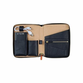 Stow Mini First Class Leather Tech Case - Personalized