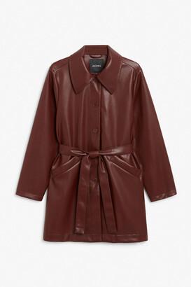 Monki Faux leather jacket