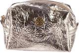 Tory Burch Logo-Embellished Metallic Cosmetic Bag