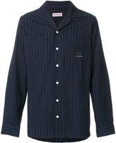 Palm Angels pinstripe open collar shirt