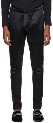 Greg Lauren Black 50/50 Long Slim Lounge Pants