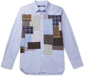 Junya Watanabe Tweed-Trimmed Patchwork Cotton Shirt