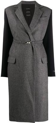 Rokh Contrast-Sleeve Midi Coat