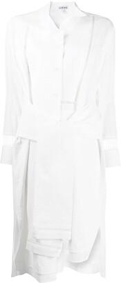 Loewe Asymmetric Midi Shirt Dress