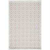 Momeni Platinum Textured Circles Rectangular Rug