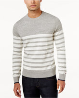 Tommy Hilfiger Men's Big & Tall Scout Striped Sweater