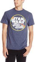 Star Wars Men's Falcon Flight T-Shirt, Indigo Black