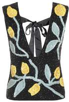 Ganni Orsay sleeveless beaded top