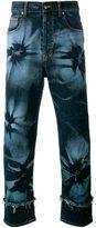 James Long hibiscus print jeans