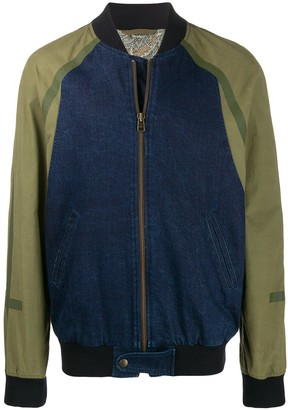 Mr & Mrs Italy tonal bomber jacket
