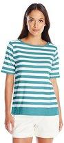 Pendleton Women's Petite Sunshine Stripe Rib Tee