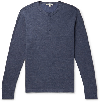 Alex Mill Waffle-Knit Cotton-Jersey Henley T-Shirt