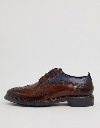Base London lennox brogues in brown leather