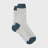 Paul Smith Women's Glittery Off-White Socks