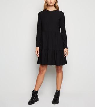 New Look Long Sleeve Tiered Smock Dress