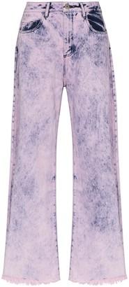 Marques Almeida High-Waisted Wide-Leg Jeans