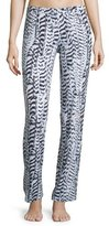 Cosabella Sedona Printed Pajama Pants, Black/White